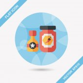 Kitchenware hot sauce flat icon with long shadow,eps10 — Vector de stock