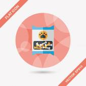 Pet dog food package flat icon with long shadow,eps10 — Stock Vector