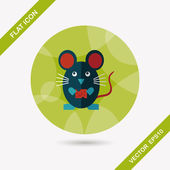 Pet mouse cage flat icon with long shadow,eps10 — Vector de stock