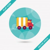 Transportation truck flat icon with long shadow,eps10 — Wektor stockowy