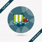 Символ квартиры грузовика для транспортировки с длинной тенью, eps10 — Cтоковый вектор