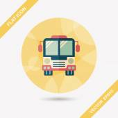 Transportation bus flat icon with long shadow,eps10 — Stock Vector