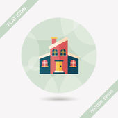 Building flat icon with long shadow,eps10 — Stock Vector