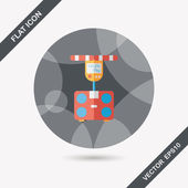 Weight scale flat icon with long shadow,eps10 — Vettoriale Stock