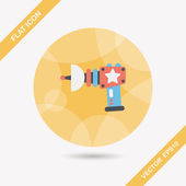 Space gun flat icon with long shadow,eps10 — Stock Vector