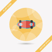 Skateboard flat icon with long shadow,eps10 — Stock Vector
