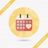 Wedding day calendar flat icon with long shadow,eps10 — ストックベクタ