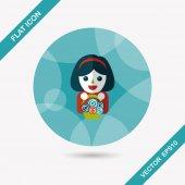 Wedding flower girl flat icon with long shadow,eps10 — Stock Vector