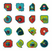 Environmental protection concept flat sticker background,eps10 — Vettoriale Stock