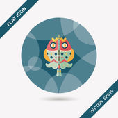 Chinese New Year flat icon with long shadow,eps, Chinese fish lu — Stockvektor