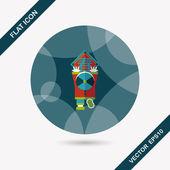 Chinese New Year platte pictogram met lange schaduw, eps10, het weinig bo — Stockvector