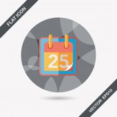 Calendar flat icon with long shadow, eps10 — Stock Vector
