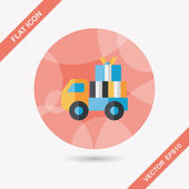 Shopping freight transport flat icon with long shadow,eps10 — Stock vektor
