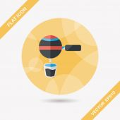 Grinding coffee machine flat icon with long shadow,eps10 — Stockvector