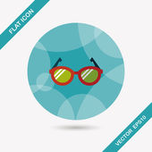 Glasses flat icon with long shadow,eps10 — Stock Vector