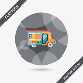 Transportation vendor carts flat icon with long shadow,eps10 — Stock Vector
