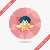 Valentine's Day cupid flat icon with long shadow,eps10 — ストックベクタ