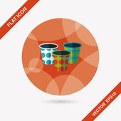 Paper Cup flat icon with long shadow,eps10 — Stock Vector