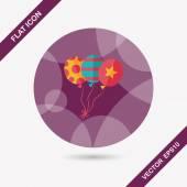 Icona piatto palloncini con lunga ombra, eps10 — Vettoriale Stock