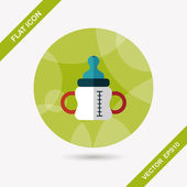 Baby bottle flat icon with long shadow,eps10 — Stockvektor