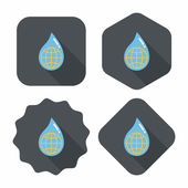 Environmental protection concept flat icon with long shadow,eps1 — ストックベクタ