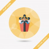 Birthday presents flat icon with long shadow,eps10 — Stock Vector