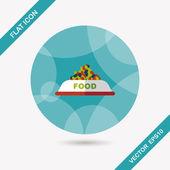 Pet dog food flat icon with long shadow,eps10 — Wektor stockowy
