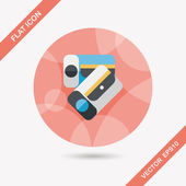 Pencil sharpener flat icon with long shadow,eps10 — Stock Vector