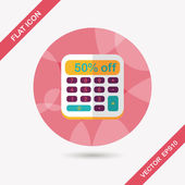 Shopping calculator flat icon with long shadow,eps10 — Stock Vector