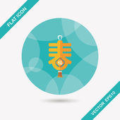 """Chinese New Year flat icon with long shadow,eps10, word """"Chun"""",  — Stock vektor"""
