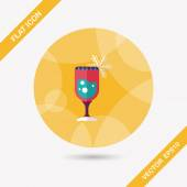 Christmas cocktail flache Icon mit langen Schatten, eps10 — Stockvektor