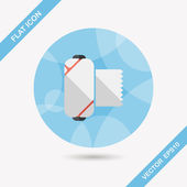 Medical bandage flat icon with long shadow — Stock Vector