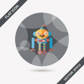Robot concept flat icon with long shadow,eps10 — Wektor stockowy
