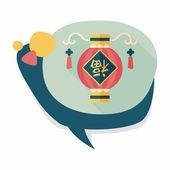 Año nuevo chino icono plana con sombra, eps10, festi chino — Vector de stock