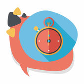 Stopwatch flat icon with long shadow,eps10 — Stock Vector