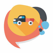 Transportation moving truck flat icon with long shadow,eps10 — Wektor stockowy