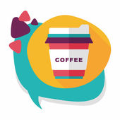 Takeaway coffee flat icon with long shadow,eps10 — Stockvektor