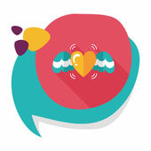 Valentine's Day love heart flat icon with long shadow,eps10 — 图库矢量图片