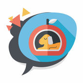 Pet bed flat icon with long shadow,eps10 — Stockvektor