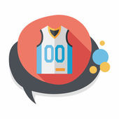 Basketball clothing flat icon with long shadow,eps10 — Stock Vector