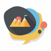 Mountain tourist flat icon with long shadow,eps10 — Stock Vector