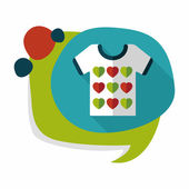 Valentine's Day clothes flat icon with long shadow,eps10 — Vetor de Stock