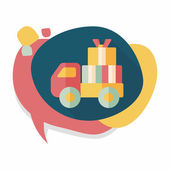 Shopping freight transport flat icon with long shadow,eps10 — Stock Vector