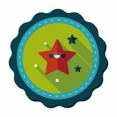 Space star flat icon with long shadow,eps10 — Stockvector