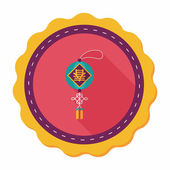 Chinese New Year flat icon with long shadow,eps10, Chinese festi — 图库矢量图片