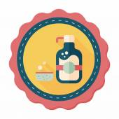 Kitchenware dish soap flat icon with long shadow,eps10 — Stock Vector