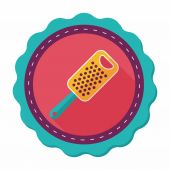 Kitchenware grater flat icon with long shadow,eps10 — Stock Vector