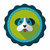 Pet dog flat icon with long shadow, eps10 — Stockvector