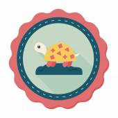 Pet turtle flat icon with long shadow,eps10 — Vettoriale Stock