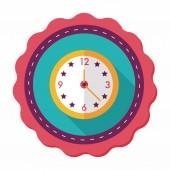 Uzun gölge, eps10 ile saat düz simgesi — Stok Vektör